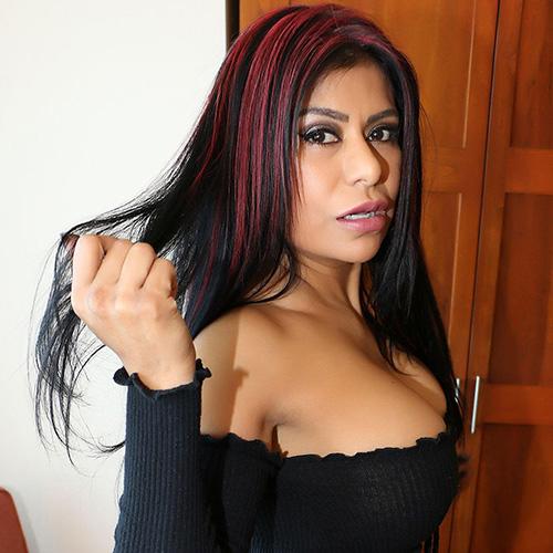 Gabby Quinteros in a black top