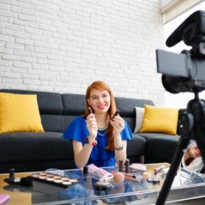 Makeup artist content creator